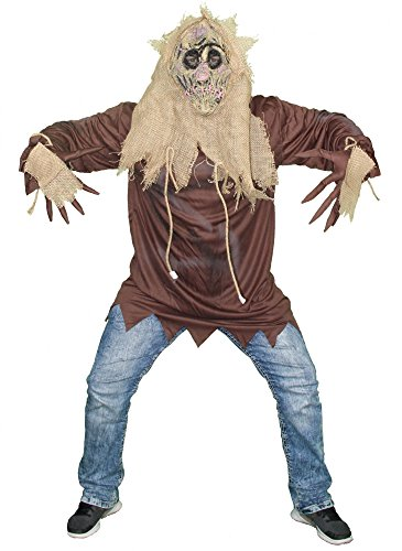 Foxxeo Scarecrow Kostüm für Kinder und Erwachsene Vogelscheuche Halloween Horror Männer Zombie Geister Kinderkostüm Herrenkostüm Monster Verkleidung Jungen Damen Mädchen Teen Größe ()