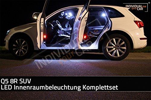 LED Innenraumbeleuchtung SET für Q5 8R SUV - Cool-White mit Panoramadach