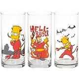 United Labels 116517 Los Simpson - Vasos con diseño de Bart (3 unidades)