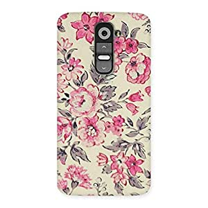 Neo World Vintage Floral Print Back Case Cover for LG G2