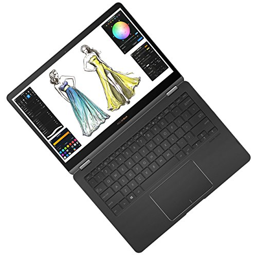ASUS ZenBook Flip S UX370UA (90NB0EN2-M02320) 33,7 cm (13,3 Zoll, FHD, Touch) Convertible (Intel Core i5-7200U, 8GB RAM, 256GB SSD, Intel HD Graphics, Win 10) Grau