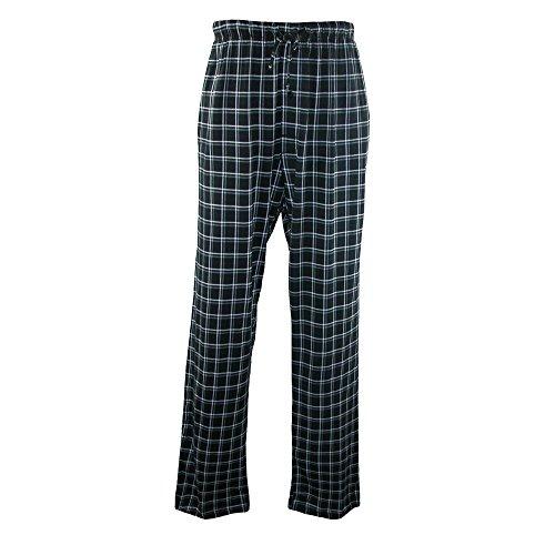 Hanes Men's Cotton ComfortSoft Printed Knit Pants, XLarge, Midnight