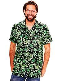 Original King Kameha | Funky Camisa Hawaiana Señores | XS-12XL |Manga Corta Bolsillo Delantero | impresión De Hawaii| Skull |diferentes colores