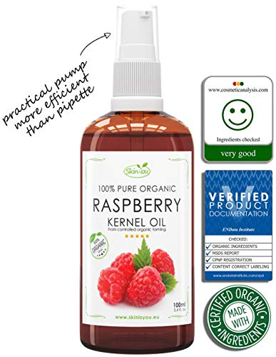 100% Pure & Organic Raspberry Oil for Skin Body and Hair use, 100ml