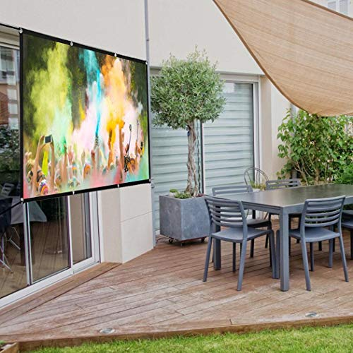 cioler tragbare Beamer Leinwand Mobile Beamer-Leinwand in wenigen Minuten Auf-/Abgebaut,Faltbare Anti-Falten für heimkino Indoor Outdoor projektor filmleinwand Leinwände