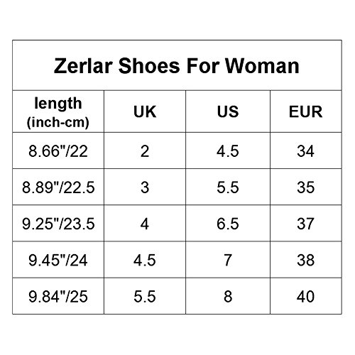 Zerlar Black donna camminata da Scarpe rZqIPvr