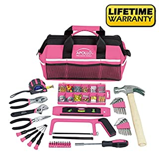 Apollo Tools DT0020P Household Tool Kit, Pink, 201-Piece, Donation Made to Breast Cancer Research