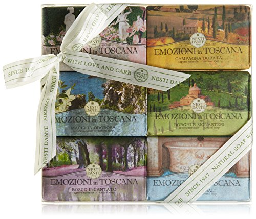 NESTI DANTE Emozioni di Toscana Collection, Jabón 6 x 150 g