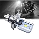 #5: Delhitraderss 1pc White COB LED Hi/Lo Beam H4 6000K Motorcycle Headlight Front Light Bulb Lamp For- For Bikes
