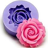 CAOLATOR Silicona Moldes Rose Molde Pastel DIY Práctico Herramienta Chocolate / Pudín / Jelly/ Jabón de Mano Molde (Color Aleatorio)