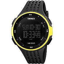 LED Digital Reloj de Pulsera Al Aire Libre para Hombre con Alarma Fecha Cronómetro Cuenta atrás