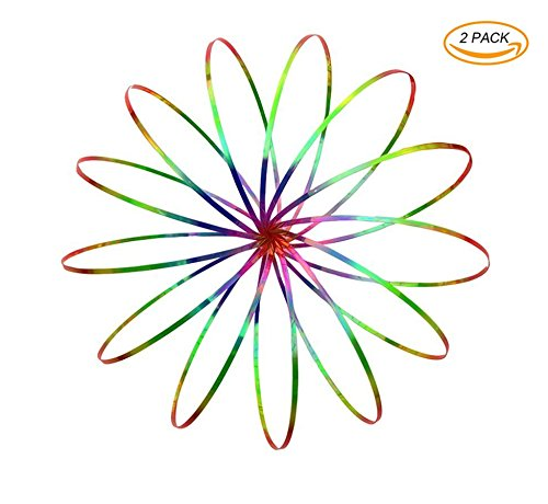 Flow Ring 3D Arcobaleno Arm Slinky Amazing Magic Science Toy Divertimento per tutte le età - Kids Teen and Adult Rainbow