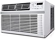 18000 BTU Window-Mounted Air Conditioner, Cools Rooms Up to 1000 Sq Ft. with 3 Cooling Speeds, 12 Hour On/Off