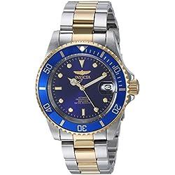"Invicta 8928OB Reloj Automatico Unisex ""correa de acero inoxidable"" Azul/Plateado/Dorado"