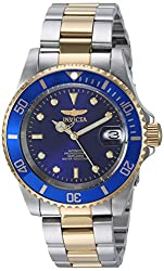 Invicta Pro Diver Unisex Analogue Classic Automatic Watch With Stainless Steel Gold Plated Bracelet – 8928ob