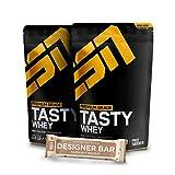 2 x 1000g. ESN Tasty Whey + 1 x Gratis ESN Tasty Bar 2 x Double Chocolate