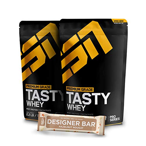2 x 1000g. ESN Tasty Whey + 1 x Gratis ESN Tasty Bar 2 x Vanilla (Classic)