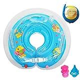raintwo bambini anello gonfiabile salvagente per collo Aiuto di nuoto per 3–36mesi del bambino infantile con 2pezzi Squeaky giocattolo e una pompa a pedale