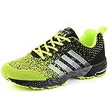 Homme Femme Chaussures de Course, Chaussures de Sport Basket Running Respirantes Athlétique Sneakers Courtes Fitness Tennis