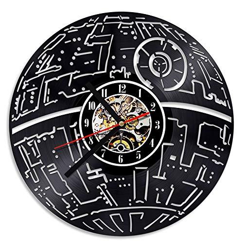 PanliClock 3D Hohl Dekorative LED Register Wanduhr Star Wars Klassische Vinyl CD Uhr Anhänger Dekoration Antike Kreative Uhr -