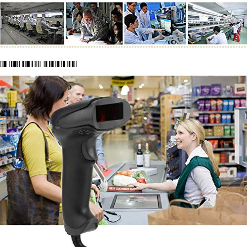 HDCooL USB 2.0 Handheld Barcode Reader Bar Code Scanner for POS PC In Black Hc-combo