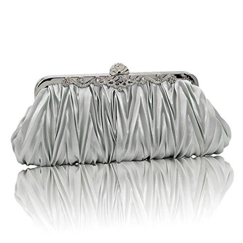 XY Fancy, Poschette giorno donna nero nero, argento (argento) - RH#BB1010-1348-SNB04 argento
