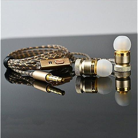 Gleading Cuffie in ear con Microfono di Moving-coil per iPhone,