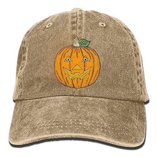 Pumpkin Cartoon Denim Baseball Caps Hat Adjustable Cotton -