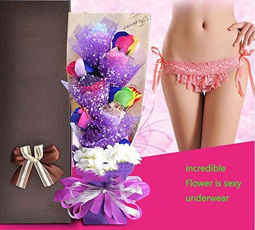 Cadeaux de Noël Sous-Vêtements Sexy Bouquet Fleurs Artificielles Fleurs De Soie Fête D'anniversaire Fournitures Cadeaux Créatifs