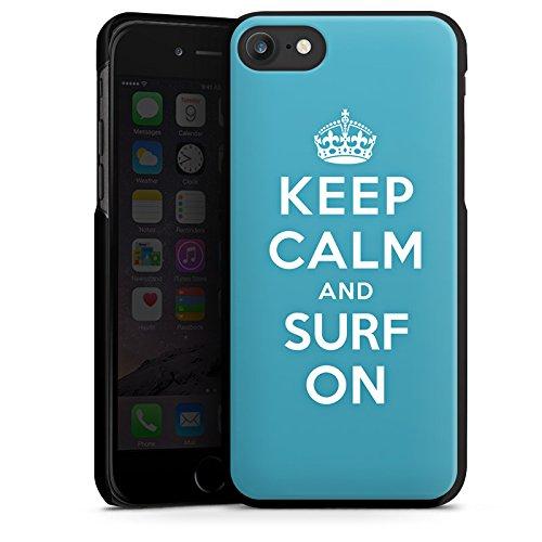 Apple iPhone X Silikon Hülle Case Schutzhülle Keep Calm surfen Urlaub Hard Case schwarz