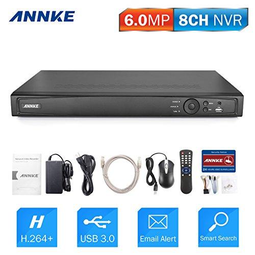 ANNKE 6MP 8 Kanal POE NVR, Netzwerk Video Rekorder, ONVIF kompatibel, Plug und Play, P2P-Fernzugriff (Ohne HDD)
