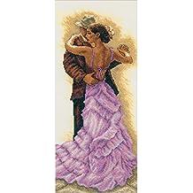 """RTO RTM284 - Kit de punto de cruz contado, 45 x 19 cm, diseño """"Tango sensual"""""""