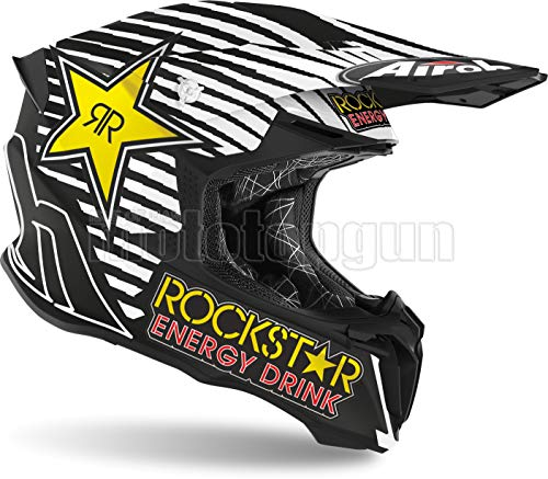 AIROH TW2RK35 CASCO MOTO CROSS MATTO TWIST 2.0 ROCKSTAR 2020 TG.M