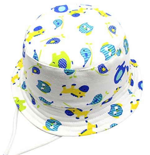 44a23553065d8 Cloud Kids Chapeau De Soleil Bébé Anti UV Bob Coton Fille Garçon Loisir  Voyage Outdoor