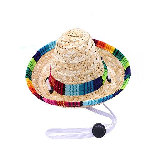 UEETEK Funny Hund Sombrero Hat, Verstellbar Chihuahua Cosplay Gap, Mexikanischen Party Kostüm Kleidung Dekoration für Haustier Hunde Geburtstag Weihnachten und Halloween (Katze In Den Hut-partei-zubehör)