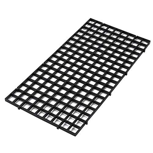 ASOSMOS Durable Kunststoff Fisch Grid Divider Tablett Eierkiste Aquarium Tank Filter Bottom Isolieren Scheibe Bottom Grid