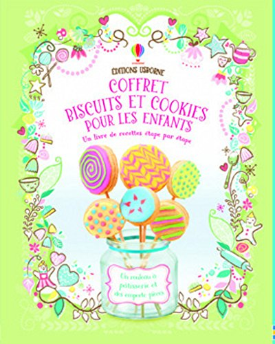 Coffret biscuits et cookies pour les enfants : Un livre de recettes avec un rouleau à pâtisserie et des emportes-pièces