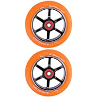 Grit Jordan Clark Signature Wheels (PAIR) - 110mm - Orange on Black