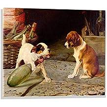 """Imagen en vidrio: William Henry Hamilton Trood """"Uncorking the Bottle, 1887"""", mural de alta calidad, magnífica impresión de arte sobre auténtico vidrio, 70x50 cm"""