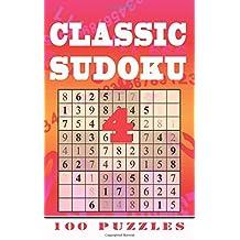 Classic Sudoku 4: 100 Puzzles, Level 3 (Medium), Pocket / Travel / Holiday Edition