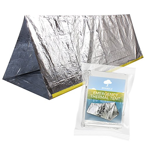 Emergency Thermal Tent for Survival, Emergency, Camping, Bushcraft or Hiking Situations. Shelter against rain, cold, storm, wind and hypothermia