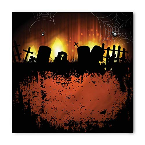 (BBABYY Halloween Bandana, Tombstone Silhouettes Web, Unisex Head and Neck Tie M100*100CM)