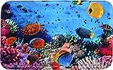 Sanilo Badteppich Ocean 70 x 120 cm, hochwertige Qualität, sehr weich, schnelltrocknend, waschbar, rutschhemmend, Fußbodenheizung geeignet