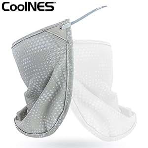 2 in 1 | Protezione Solare per Collo e Viso | Falda removibile universale per qualsiasi Berretto o Cappello per proteggere collo e orecchie dai raggi solari | SPF 50+ | 2018 Nuova Versione