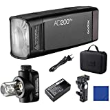 Godox AD200Pro 200Ws 2.4G TTL HSS 1 / 8000s Pocket Flash Monolight Double Strobe con 2900mAh Batería de Litio para Nikon Sony