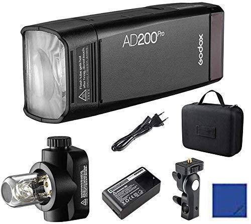 Godox AD200Pro 200Ws 2.4G TTL HSS 1/8000 Pocket Flash Monolight Double Head Strobe con batteria al litio 2900mAh per Nikon Sony Fujifilm Olympus