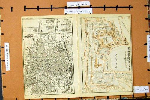 PIANIFICAZIONE 1893 DELLA VIA DELLA MAPPA DARMSTADT HEIDELBERG SCHLOSS