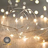 #10: Beauty Lights 2M 20 LED Silver String USB Powered Copper LED String Light Decorative Fairy Lights