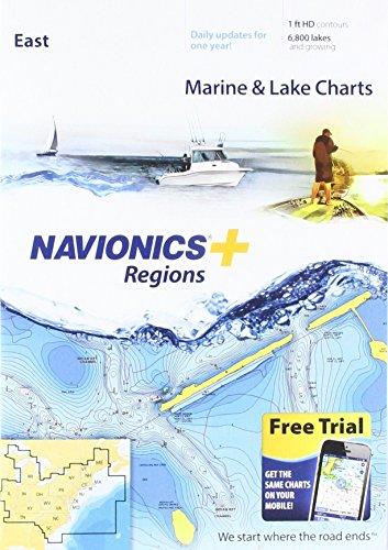 Navionics Plus Regions East Marine and Lake Charts auf SD/MSD -
