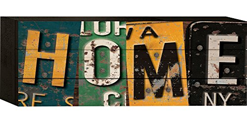 P. Graham Dunn Home Nummernschild Art 5x 12Holz -
